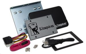 "Kingston UV500 480G 2.5"" Upgrade Bundle Kit / SSD / SATA III / 3D TLC / 7mm / čtení:520MBs / zápis:500MBs / 79K 35K IOPS"
