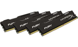 HyperX FURY Black 32GB (4x8GB) DDR4 2666MHz / CL16 / DIMM / Non-ECC / Un-Registered / 1Rx8 / 1.2V
