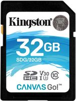 Kingston Canvas Go! SDXC 32GB / CL10 / U3 / UHS-I / V30 / čtení: 90MBs / zápis: 45MBs