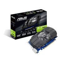 ASUS PH-GT1030-O2GD4 / 1152 MHz / 2GB DDR4 2.1GHz / 64-bit / DVI + HDMI / 20W