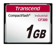 Transcend Industrial Compact Flash Card CF300 1GB / SLC / 300X / UDMA5 / TYPE I