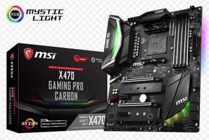 MSI X470 GAMING PRO CARBON / AMD X470 / DDR4 / SATA III RAID / USB / GLAN / M.2 / sc.AM4 / ATX