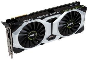 MSI GeForce RTX 2080 VENTUS 8G OC / 1515 MHz / 8GB GDDR6 14GHz / 256-bit / USB-C+HDMI+3x DP / 225W (8+6)