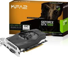 KFA2 GeForce GTX 1050 OC / 1366-1468MHz / 2GB D5 7GHz / 128-bit / DVI + HDMI + DP / 75W / Retail