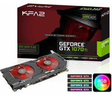 KFA2 GeForce GTX 1070 Ti EX / 1607-1683MHz / 8GB D5 8GHz / 256-bit / DVI + HDMI + 3x DP / 180W (8+6) / Retail