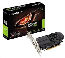 GIGABYTE GeForce GTX 1050 OC Low Profile 2GB / 1392-1506MHz / 2GB D5 7GHz / 128-bit / DVI, HDMI, DP / 75W