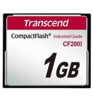 Transcend Industrial Temp CF200I 1GB / CF / 50 pin / R: 57MBps / W: 35MBps / SLC