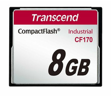 Transcend Industrial CF170 8GB / CF / 50 pin / R: 90MBps / W: 60MBps / MLC