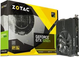 ZOTAC GeForce GTX 1050 Ti Mini / 1417 MHz / 4GB GDDR5 7GHz / 128-bit / DVI + HDMI + DP / 75W
