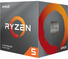 AMD RYZEN 5 3600X @ 3.8GHz / Turbo 4.4GHz / 6C12T / L1 512kB L2 3MB L3 32MB / AM4 / Zen 2 / 95W / Wraith
