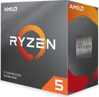 AMD RYZEN 5 3600 @ 3.6GHz / Turbo 4.2GHz / 6C12T / L1 512kB L2 3MB L3 32MB / AM4 / Zen 2 / 65W / Wraith