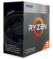 AMD RYZEN 3 3200G @ 3.6GHz / Turbo 4.0GHz / 4C4T / L1 384kB L2 2MB L3 4MB / AM4 / Zen 2 / 65W / Wraith