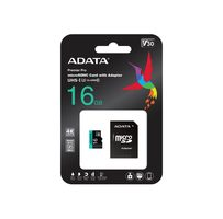 ADATA Micro SDHC 16GB U3 V30S 95MB/s + adapter