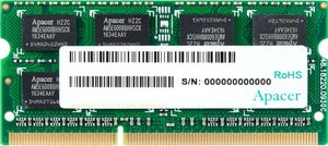 Apacer 8GB 1600MHz / DDR3L / SO-DIMM / 1600MHz / PC3L-12800S / CL11 / 1.35V