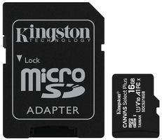 Kingston Canvas Plus microSDHC 16GB s adaptérem / UHS-I / Class 10 / SD adaptér / čtení: až 100 MBs