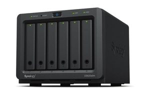 "Synology DiskStation DS620slim / 6x 2.5"" HDD / Intel Celeron J3355 @2.0GHz / 2GB RAM / 2x USB 3.0 / 4x GLAN"