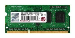 Rozbaleno - Transcend DDR3 2GB 1333Mhz CL9 SO-DIMM / rozbaleno