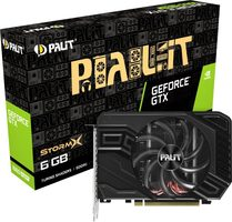 PALIT GeForce GTX 1660 Super StormX / 1530-1785 MHz / 6GB GDDR6 14GHz / 192-bit / HDMI + DP + DVI-D / 125W (8)