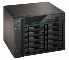 Asustor Lockerstor 10 Pro-AS7110T / 10x HDD / Xeon E-2224 3.4GHz / 8GB RAM / 3x USB 3.2 / 1x 10GLAN & 3x 2.5GLAN