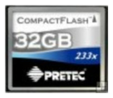 Pretec Compact Flash karta 233x 32GB