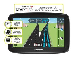 "TomTom START 52 Europe Lifetime / 5"" / 8GB / microSD / Evropa"
