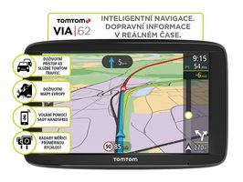 "TomTom VIA 62 Europe LIFETIME mapy / 6"" / 16GB / microSD / Evropa"