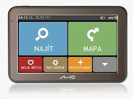 "Mio Spirit 7500 GPS navigace / LCD 5"" / full Europe 7PPC + lifetime map voucher"