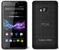 "Kruger&Matz MOVE2 KM0411 / DUALSIM / Q-C 1.2GHz / 4"" / 800x480 / 512MB RAM / 4GB / WiFi / BT / Android 4.3"