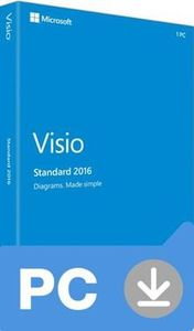 Microsoft Visio Standard 2016 (Nekompatibilní s Office 2013) / Elektronická licence / 1 PC / Click-to-Run / Win
