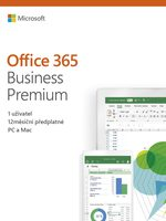 Microsoft Office 365 Business Premium / PC & Mac / 64 bit / Bez média / Krabicová licence