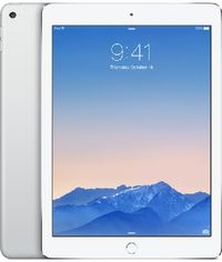 "Apple iPad Air 2 128GB WiFi Cellular Silver / 9.7""/ 2048x1536 / WiFi+LTE / 10h výdrž / 2x kamera / iOS8 / Stříbrná"