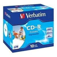 VERBATIM CD-R (10ks) Jewel / Printable / 52x / 700MB