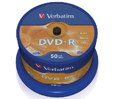 Verbatim DVD-R / 4,7 GB / 16x / Printable / 50ks cake