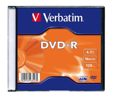 Verbatim DVD-R / 4,7 GB / 16x / 100ks slim pack