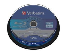 Verbatim Blu-Ray BD-R / 50GB / 6x / DualLayer / 10ks Spindl