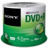 SONY médium DVD+R DPR-47 / 4.7 GB / 16x / 50ks spindl