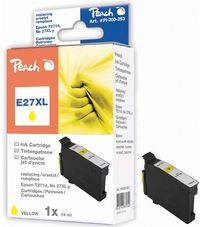 Peach T2714 alternativní cartridge / 27XL / 14ml / pro Epson WF-3620 / žlutá
