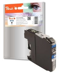 Peach Remanufactured LC-123 alternativní cartridge / pro Brother DCP-J4110 / černá