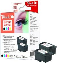 Peach remanufctured PG-512 / CL-513 MultiPack alternativní cartridge / Canon Pixma MP240 / multipack