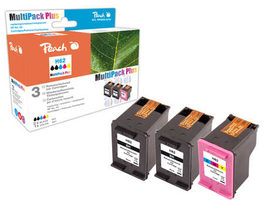 Peach Remanufactured HP62 MultiPack Plus alternativní cartridge / HP Envy 5640 / OEM chip / 2x4.3+9ml / Multipack Plus