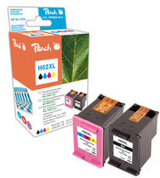 Peach Remanufactured HP62XL MultiPack alternativní cartridge / HP Envy 5640 / OEM chip / 19+21ml / Multipack