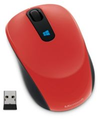 Microsoft Sculpt Mobile Mouse Wireless / 4000dpi / BlueTrack / Myš / USB / Win 8 / červená