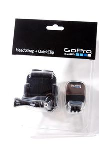 GoPro head strap and quickclip / Čelenka a QuickClip pro kamery HERO