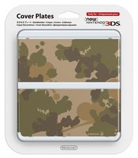 3DS new Cover Plate 17 / Camouflage