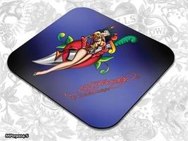 ED HARDY Mouse Pad Small Fashion 1 - Pin Up Girl / podložka pod myš