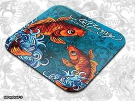 ED HARDY Mouse Pad Small Fashion 2 - Koi Fish blue / podložka pod myš