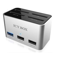 Icy Box Docking Station / 4x čtečka SD karet / 2x USB 3.0 / 2x USB 2.0
