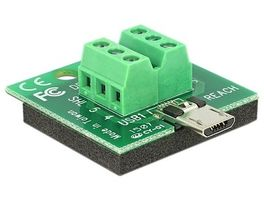 Delock adaptér Micro USB male > Terminal Block 6 Pin