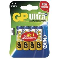 GP Ultra Plus alkalické baterie AA LR06 / 4ks