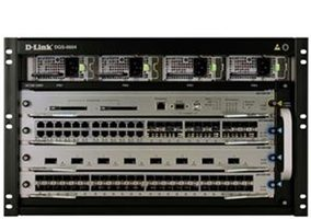 D-Link 4-slot managed chassis layer 2/3+ switch / základní kit